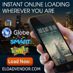 Online eLoad for Globe, Smart